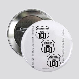 """US Route 101 - All States 2.25"""" Button"""