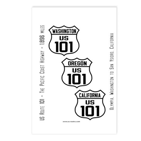 US Route 101 - All States Postcards (Package of 8)