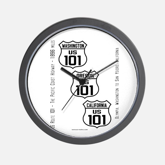 US Route 101 - All States Wall Clock