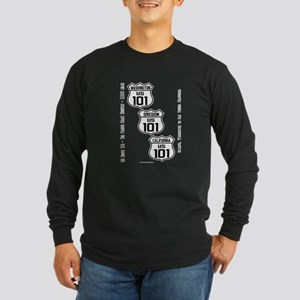 US Route 101 - All States Long Sleeve Dark T-Shirt