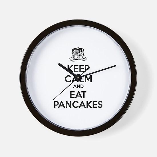 Keep Calm And Eat Pancakes Wall Clock