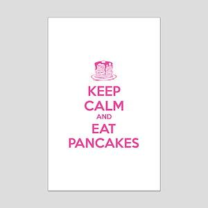 Keep Calm And Eat Pancakes Mini Poster Print