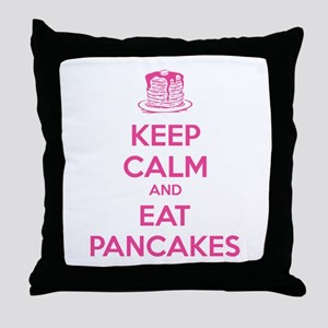 Keep Calm And Eat Pancakes Throw Pillow