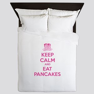 Keep Calm And Eat Pancakes Queen Duvet