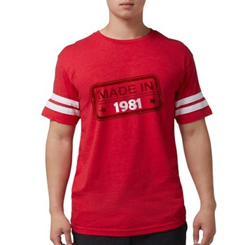 Stamped Made In 1981 Mens Football Shirt