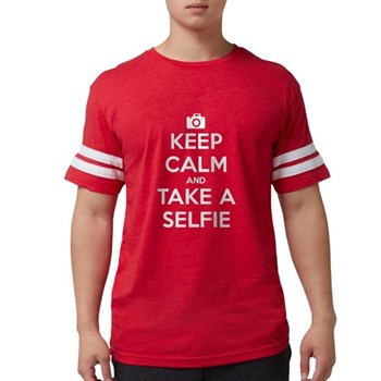 Keep Calm and Take a Selfie Mens Football Shirt