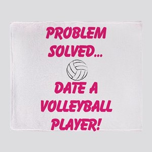 Date a Volleyball Player Throw Blanket
