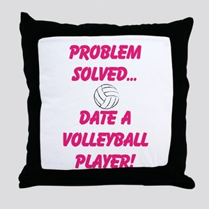 Date a Volleyball Player Throw Pillow