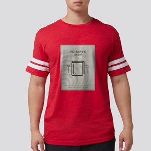 To Serve Man Minimal Poster Mens Football Shirt