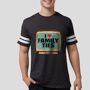Retro I Heart Family Ties Mens Football Shirt