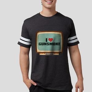 Retro I Heart Gunsmoke Mens Football Shirt