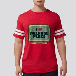 Retro I Heart Melrose Place Mens Football Shirt