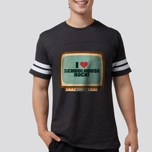 Retro I Heart Schoolhouse Roc Mens Football Shirt