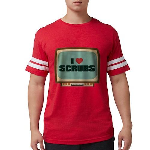 Retro I Heart Scrubs Mens Football Shirt