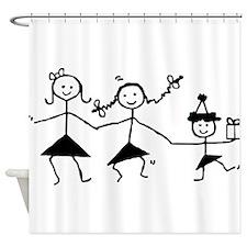 Dancing Stick Girls Shower Curtain