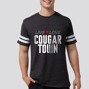 Live Love Cougar Town Mens Football Shirt