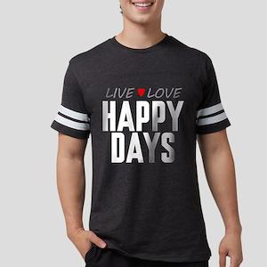 Live Love Happy Days Mens Football Shirt