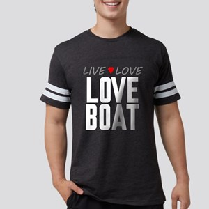 Live Love Love Boat Mens Football Shirt