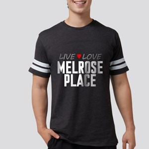 Live Love Melrose Place Mens Football Shirt