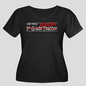 Job Ninja 5th Grade Women's Plus Size Scoop Neck D