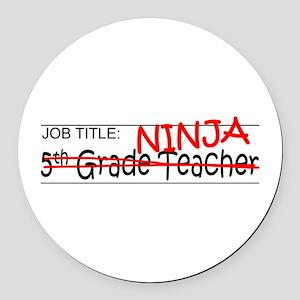 Job Ninja 5th Grade Round Car Magnet