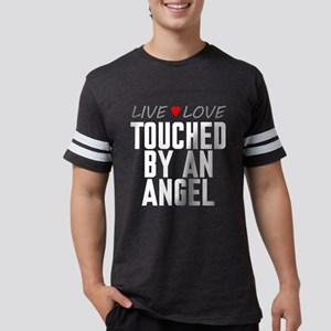 Live Love Touched by an Angel Mens Football Shirt