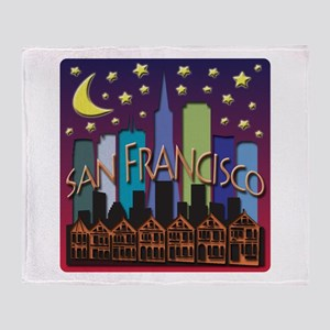 San Francisco Skyline Mega Color Throw Blanket