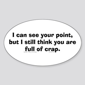 Your Point... Oval Sticker