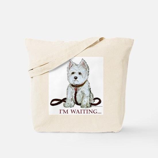 Westie Walks Tote Bag