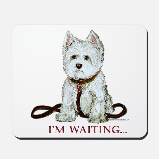 Westie Walks Mousepad