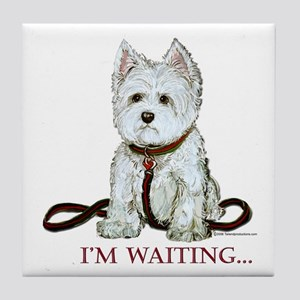 Westie Walks Tile Coaster