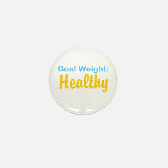 Goal Weight: Healthy Mini Button
