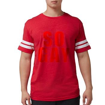 Red So Gay Mens Football Shirt