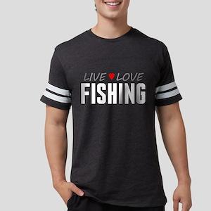 Live Love Fishing Mens Football Shirt