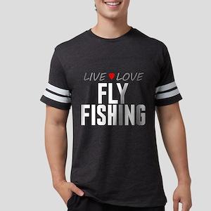 Live Love Fly Fishing Mens Football Shirt