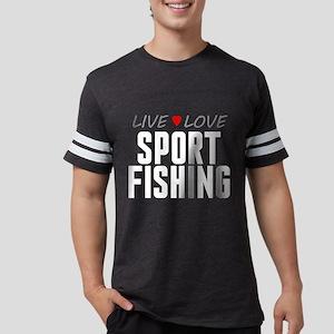 Live Love Sport Fishing Mens Football Shirt