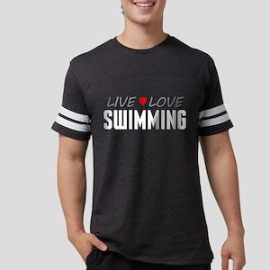 Live Love Swimming Mens Football Shirt