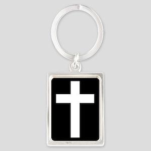 White Cross Keychains
