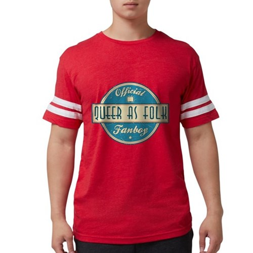 Offical Queer as Folk Fanboy Mens Football Shirt