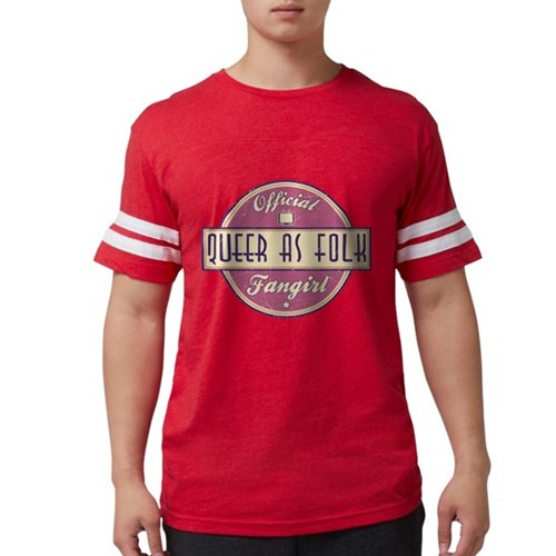 Offical Queer as Folk Fangir Mens Football Shirt