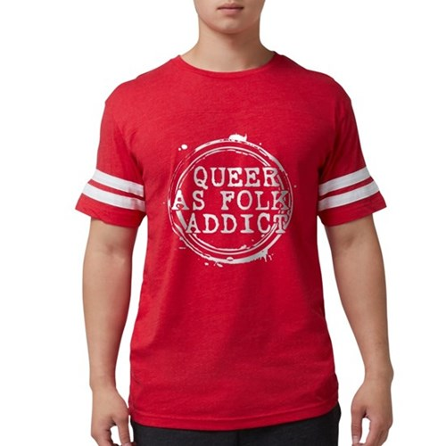 Queer as Folk Addict Stamp Mens Football Shirt