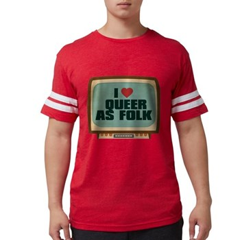 Retro I Heart Queer as Folk Mens Football Shirt