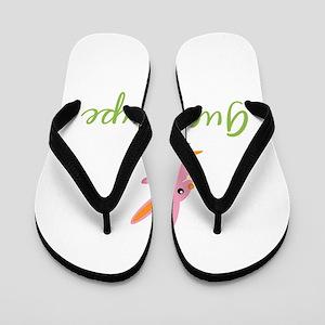 Easter Bunny Guadalupe Flip Flops