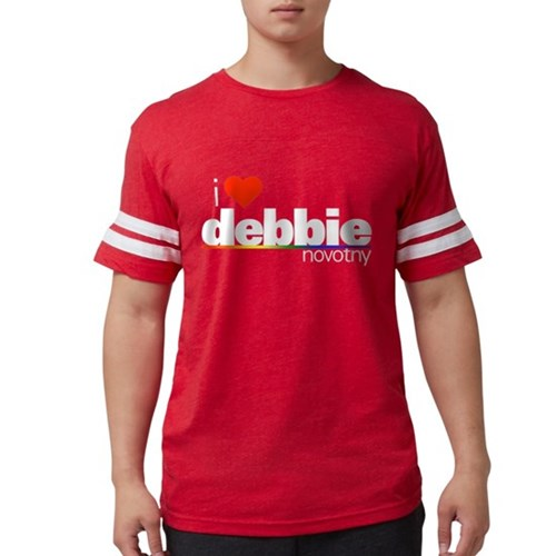 I Heart Debbie Novotny Mens Football Shirt