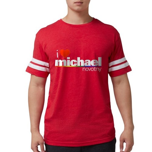 I Heart Michael Novotny Mens Football Shirt