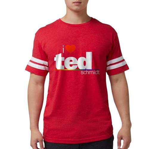 I Heart Ted Schmidt Mens Football Shirt