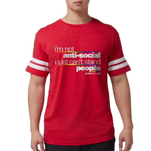 I'm Not Anti-Social Mens Football Shirt