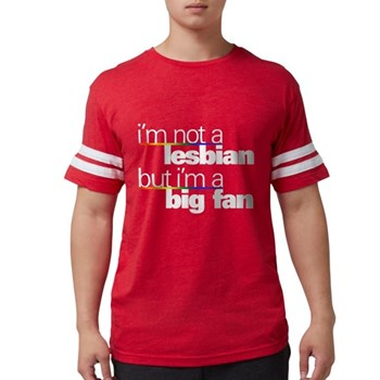 Not a Lesbian Mens Football Shirt