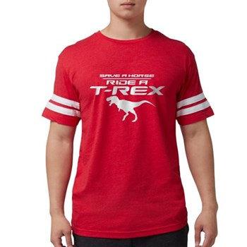 Save a Horse, Ride a T-Rex Mens Football Shirt