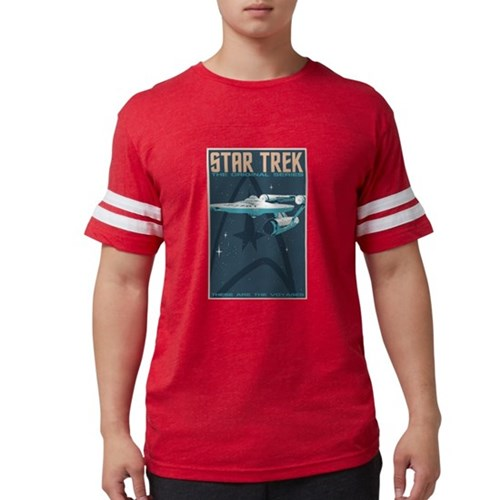 Retro Star Trek TOS Mens Football Shirt